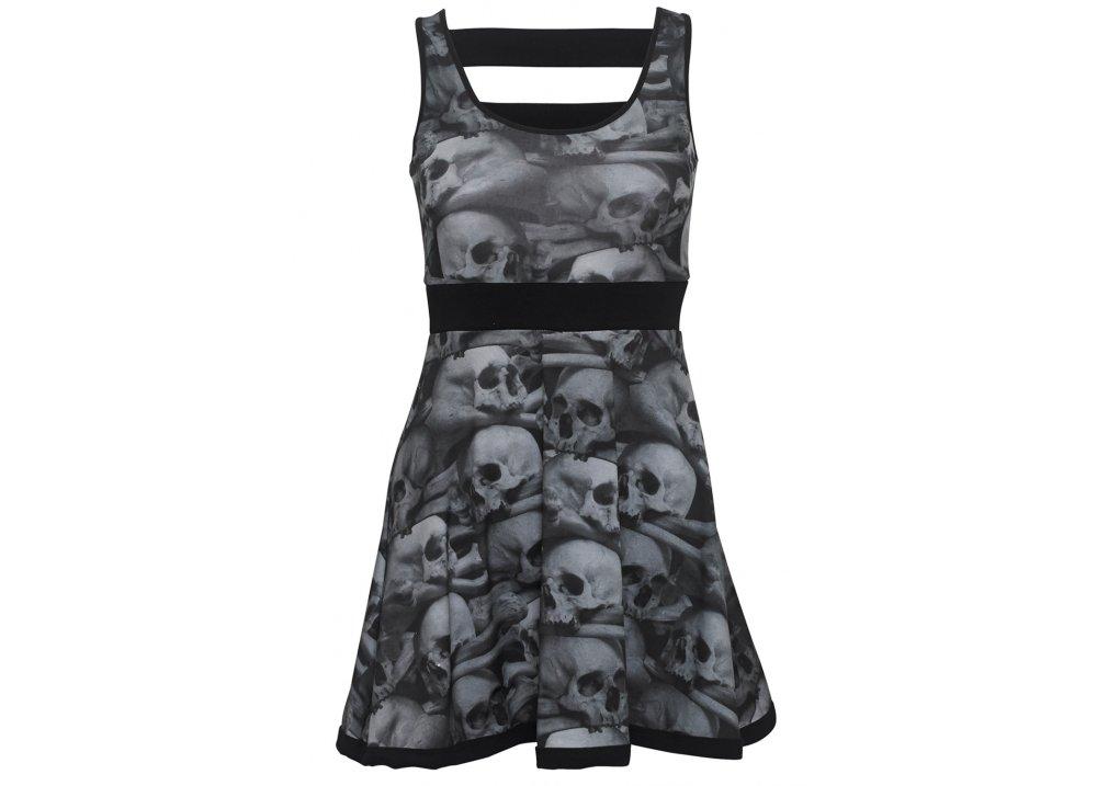 Skull Pile Penny Dress - Size: L