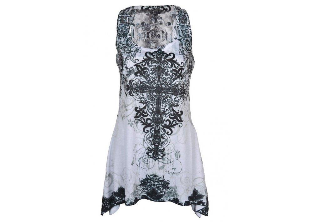 Cross Lace Panel Vest - Size: L