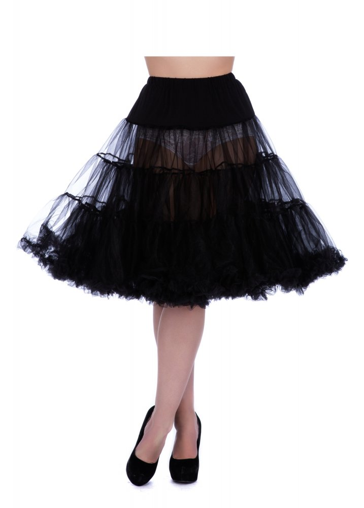 Froo Froo Petticoat Black - Size: S/M