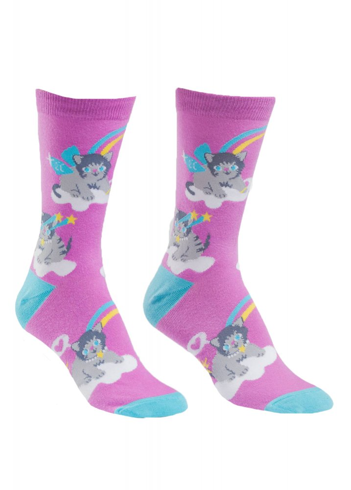 A Purrfect World Socks - Size: One Size