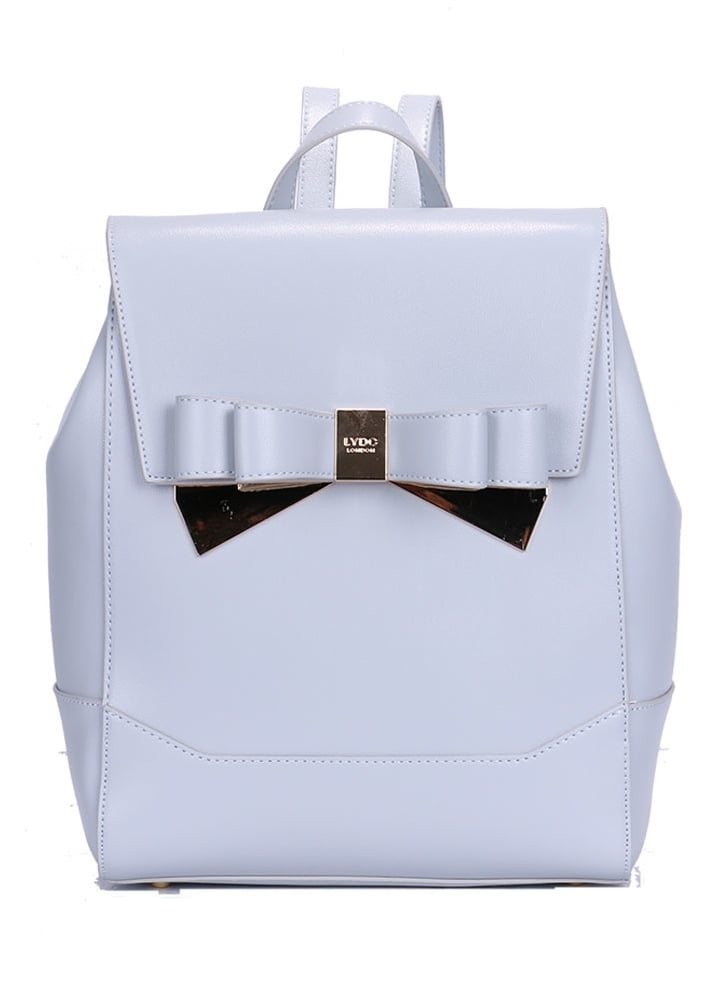 Metallic Double Bow Backpack - Colour: Grey