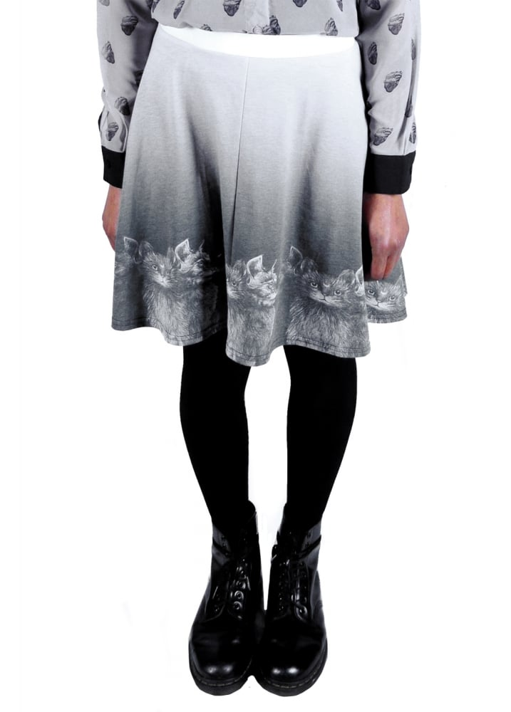 A Coven Of Cats Skater Skirt - Size: L
