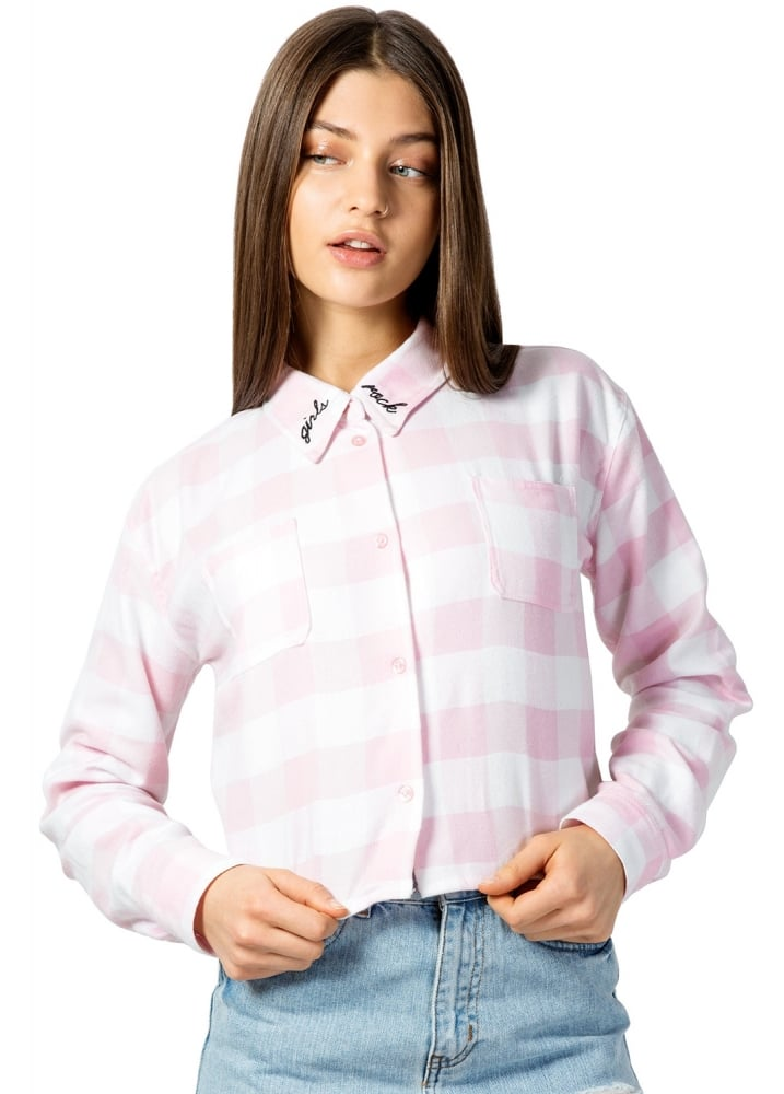 Girls Rock Plaid Shirt - Size: L