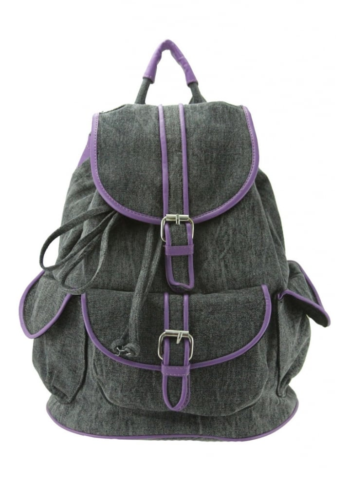 Purple Contrast Backpack - Colour: Grey