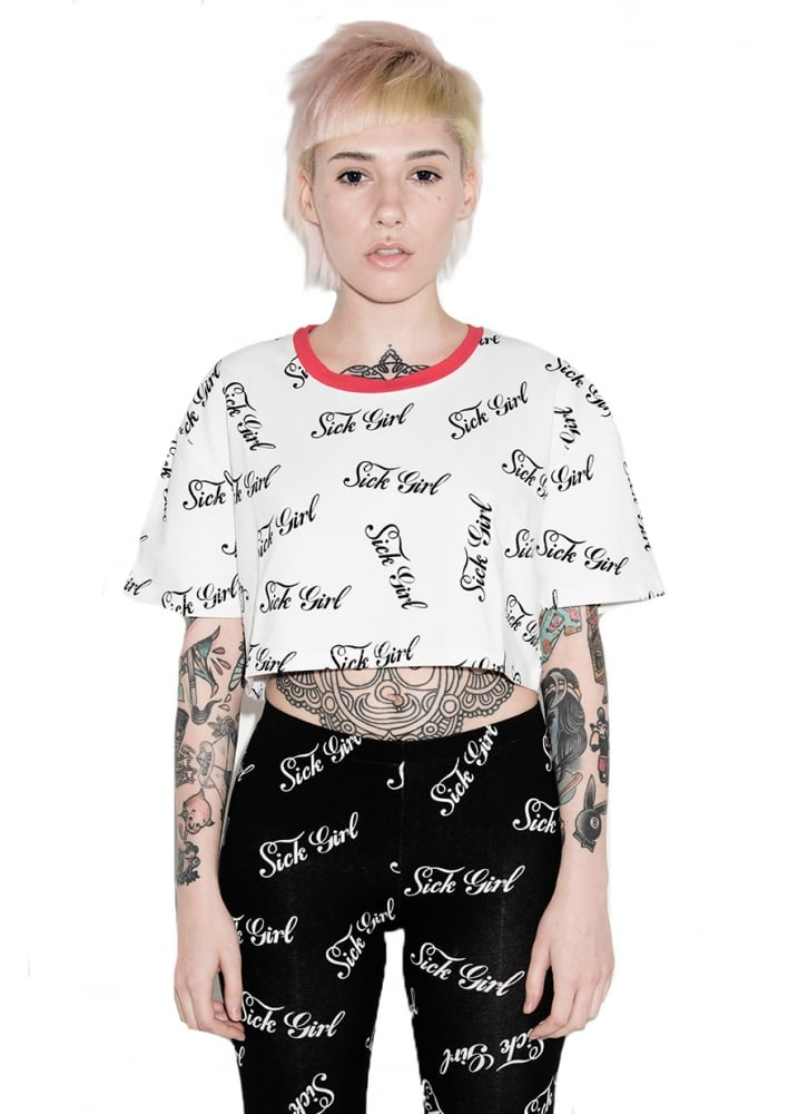 Repeat Crop Top - Size: M