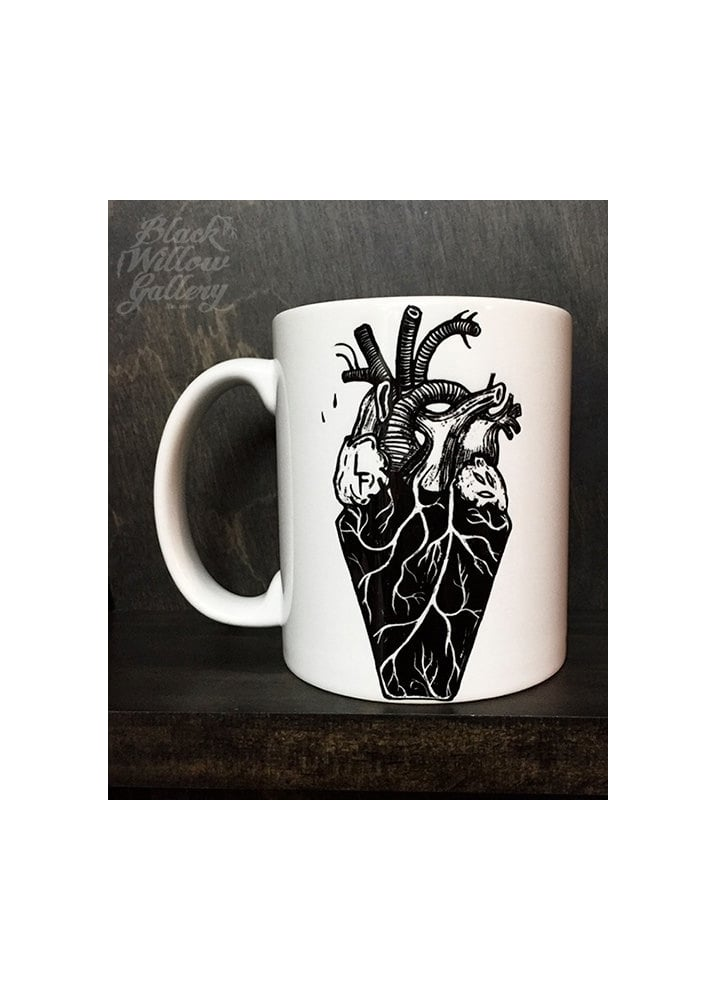 Coffin Heart Mug - Colour: White