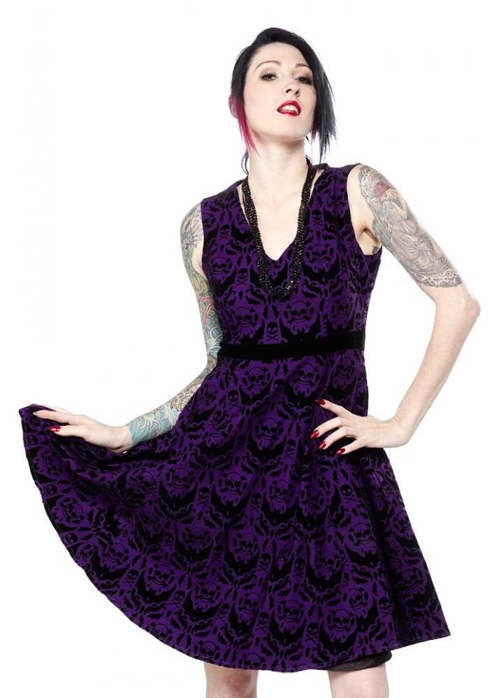 Spooky Damask Dress - Size: XL