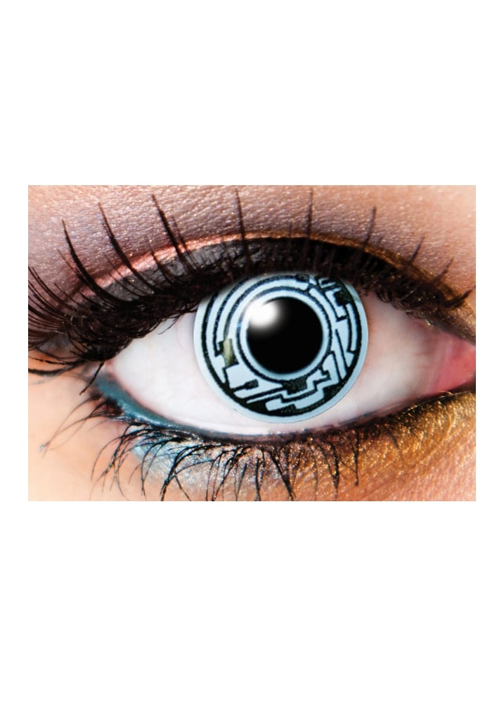 One Day Cyborg Cosmetic Lenses - Size: One Size