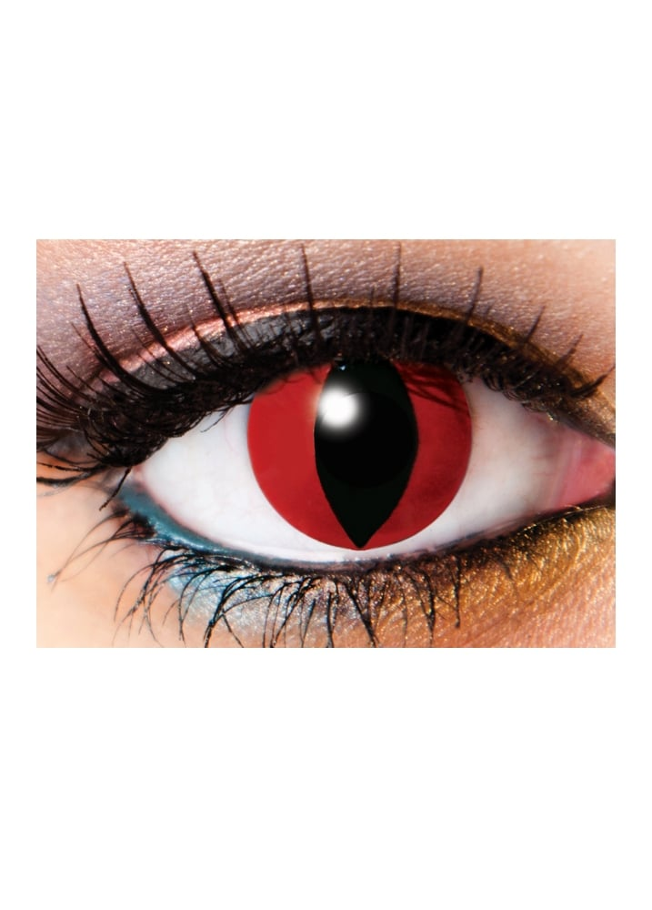 One Day Demon Cosmetic Lenses - Size: One Size