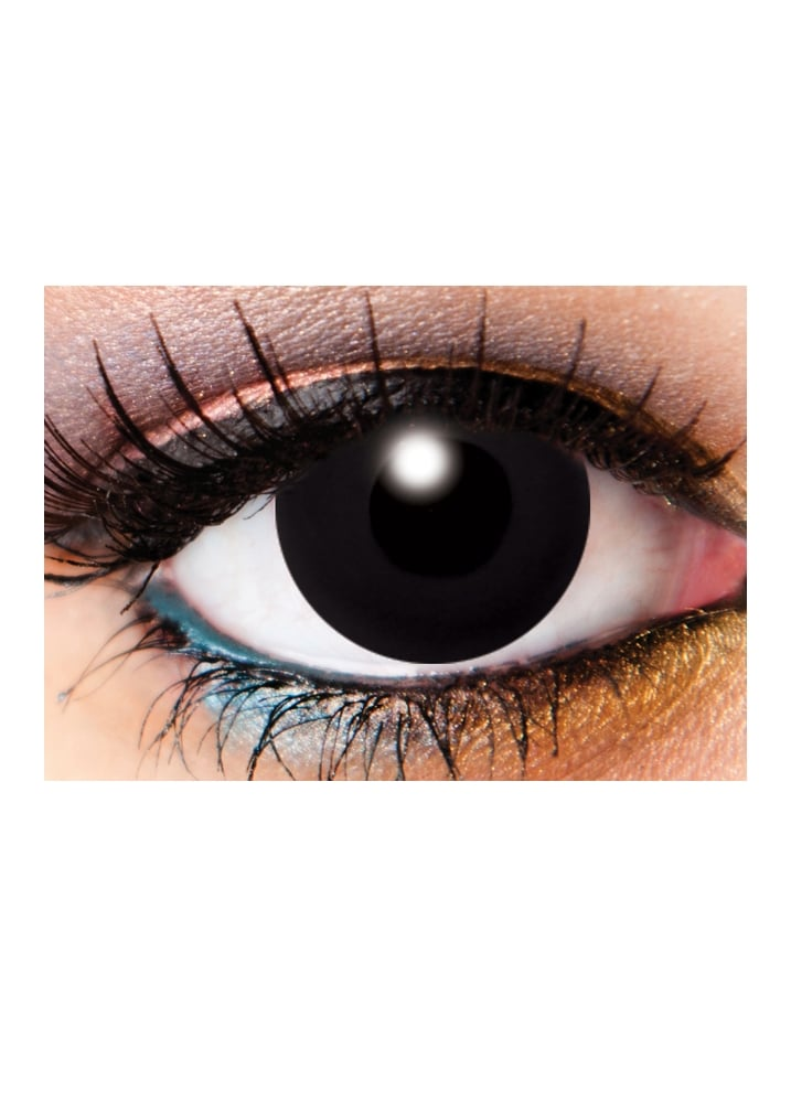 One Day Solid Black Cosmetic Lenses - Size: One Size