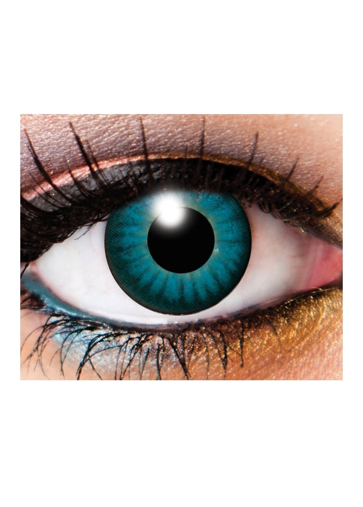 One Day Electro Blue Cosmetic Lenses - Size: One Size