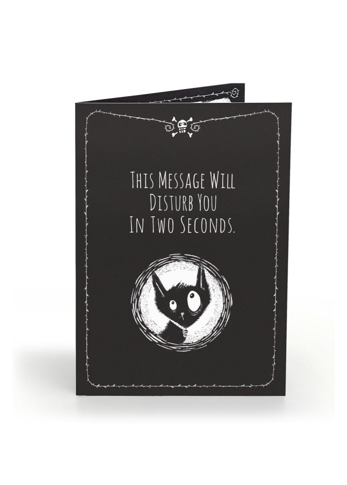 This Message Will Disturb Anti Greeting Card - Colour: Black