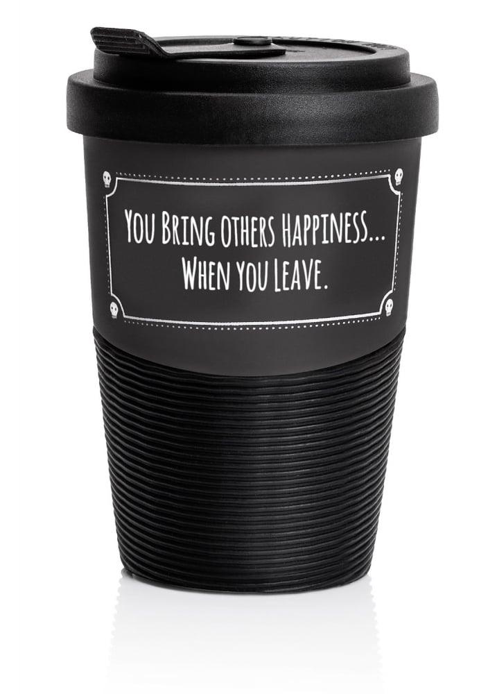 Happiness Travel Mug - Colour: Black