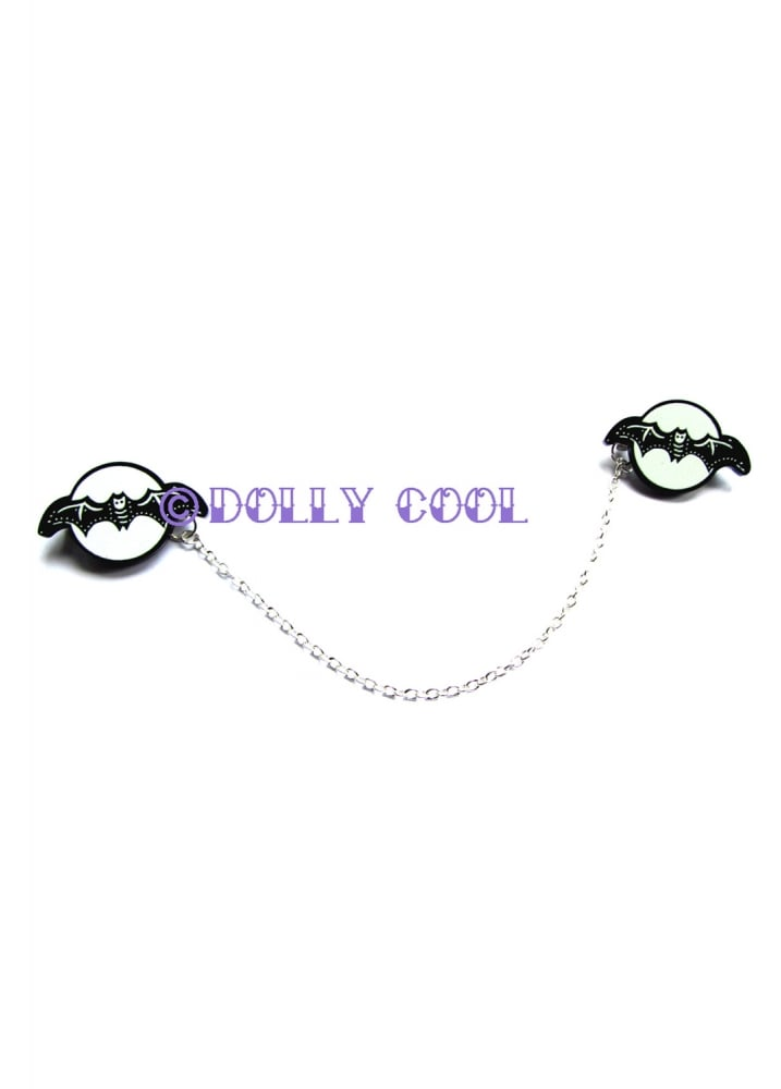 Halloween Bat Collar Clips - Colour: Black