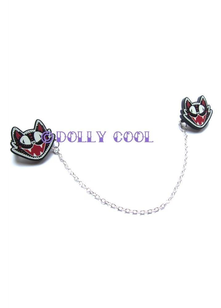 Halloween Cat Collar Clips - Colour: Black