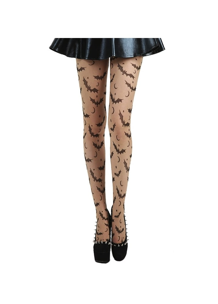 Bat, Star & Moon Tights - Size: Size 8-14