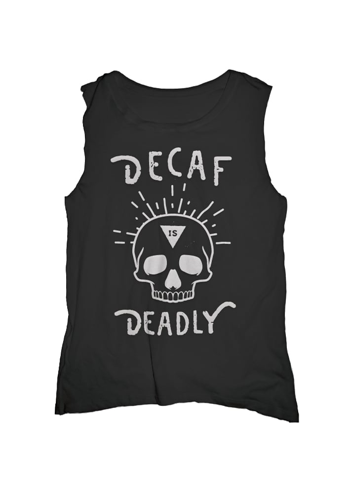 Deadly Decaf Muscle Tee - Size: M/L