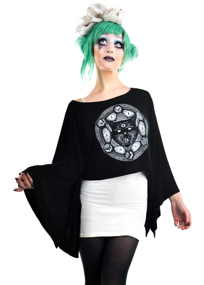 Cat-A-Gram Coven Cape Top - Size: L