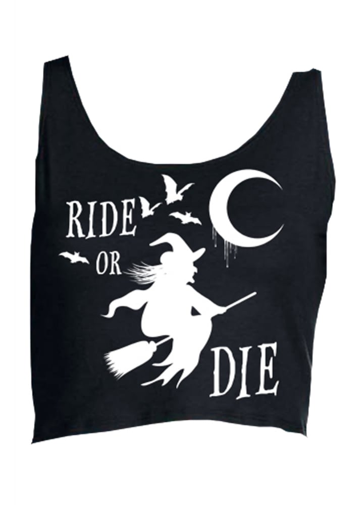 Ride Or Die Crop Top - Size: M/L