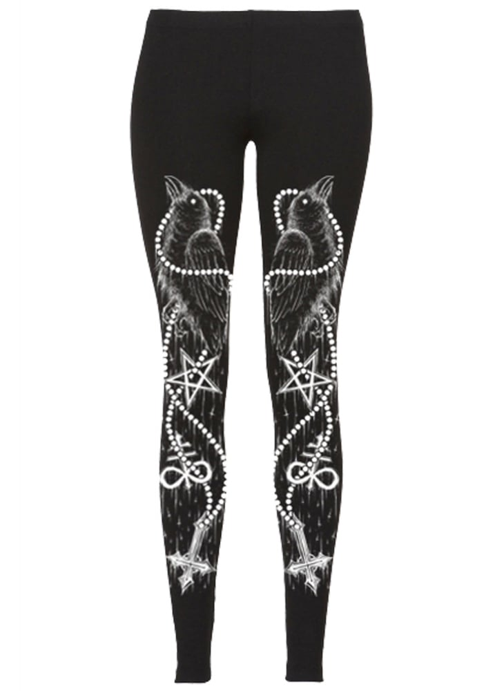 Black Bird Leggings - Size: L