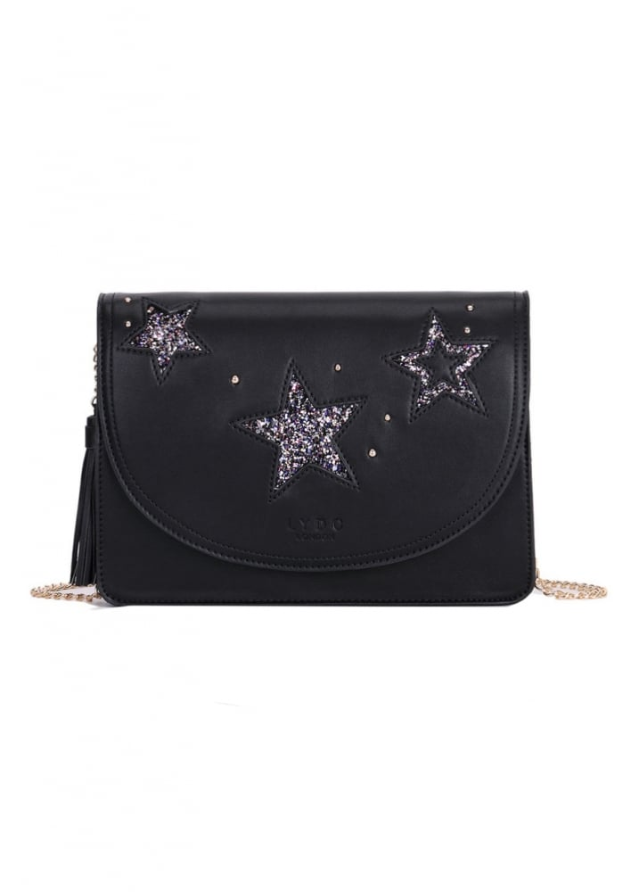 Glitter Stars Handbag - Colour: Black