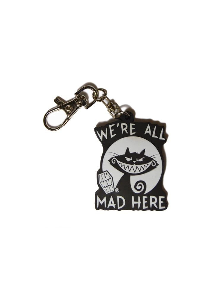 We&039re All Mad Here Keyring  Colour Black
