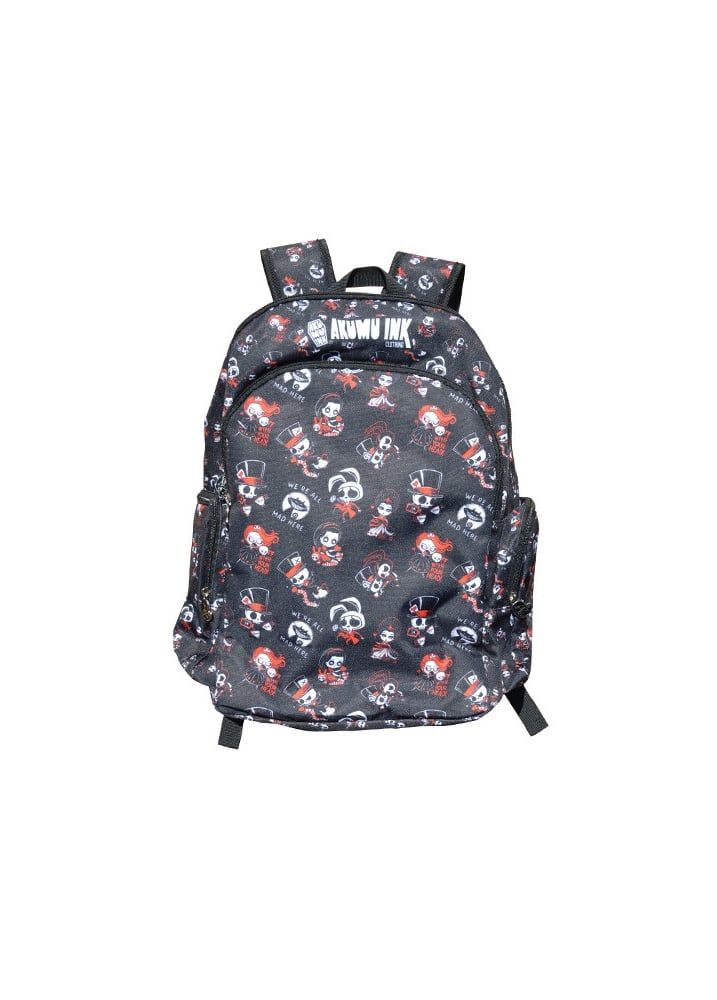 Alice Pattern Backpack - Colour: Black
