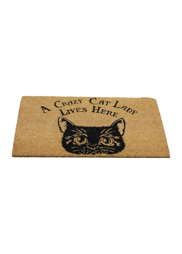 Crazy Cat Lady Doormat - Colour: Brown