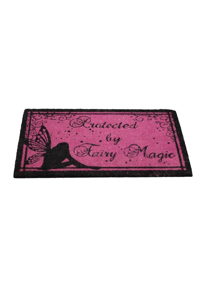 Protected By Fairy Magic Doormat - Colour: Pink