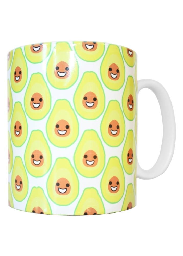 Happy Avocado Mug - Colour: White