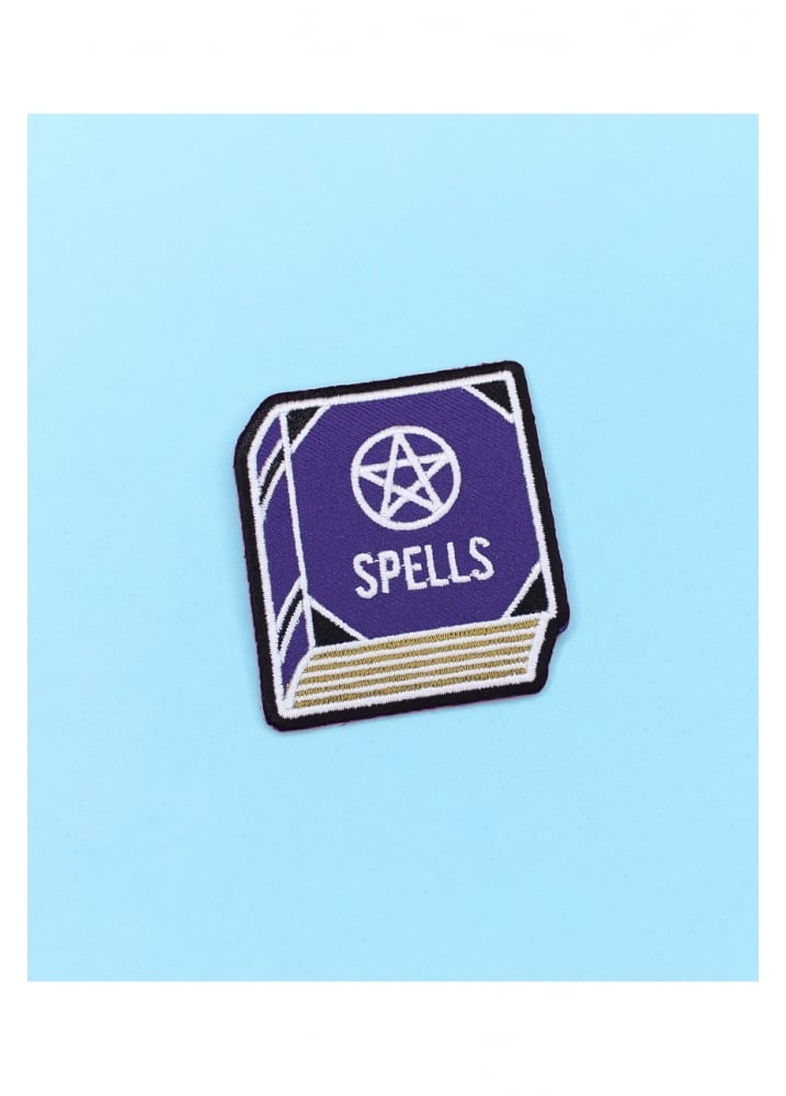 Spell Book Iron-On Patch - Colour: Purple