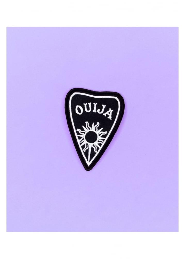 Ouija Planchette Iron-On Patch - Colour: Black