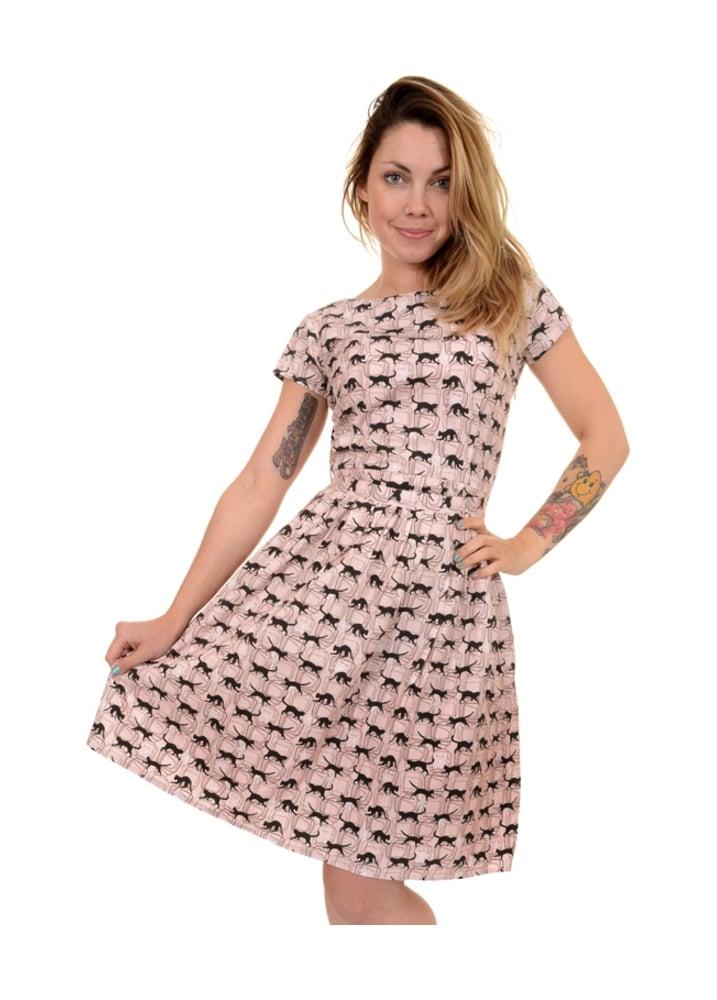 Atomic Black Cats Tea Party Dress - Size: Size 10