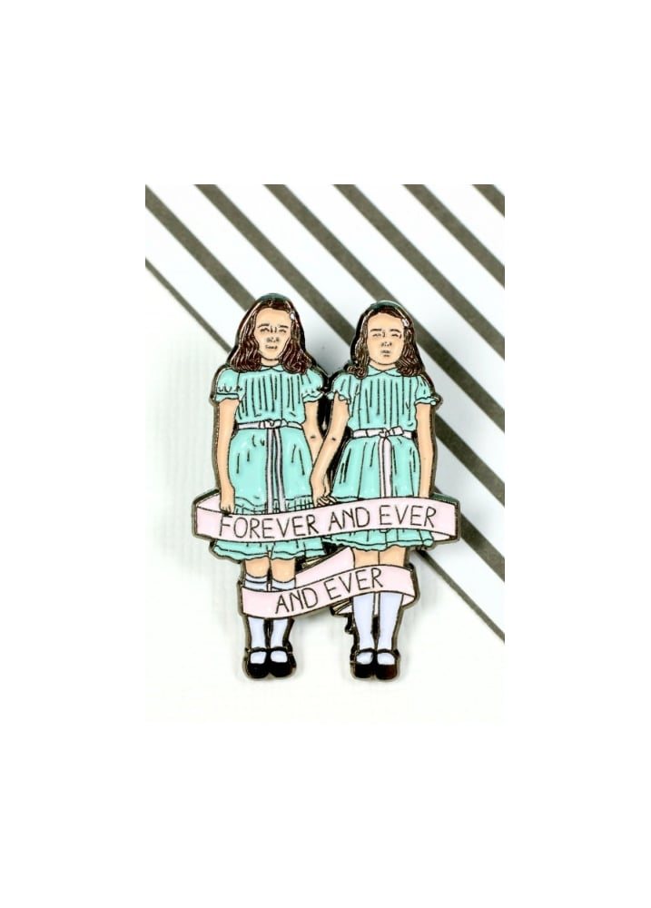 The Shining Twins Enamel Pin Badge - Colour: Blue