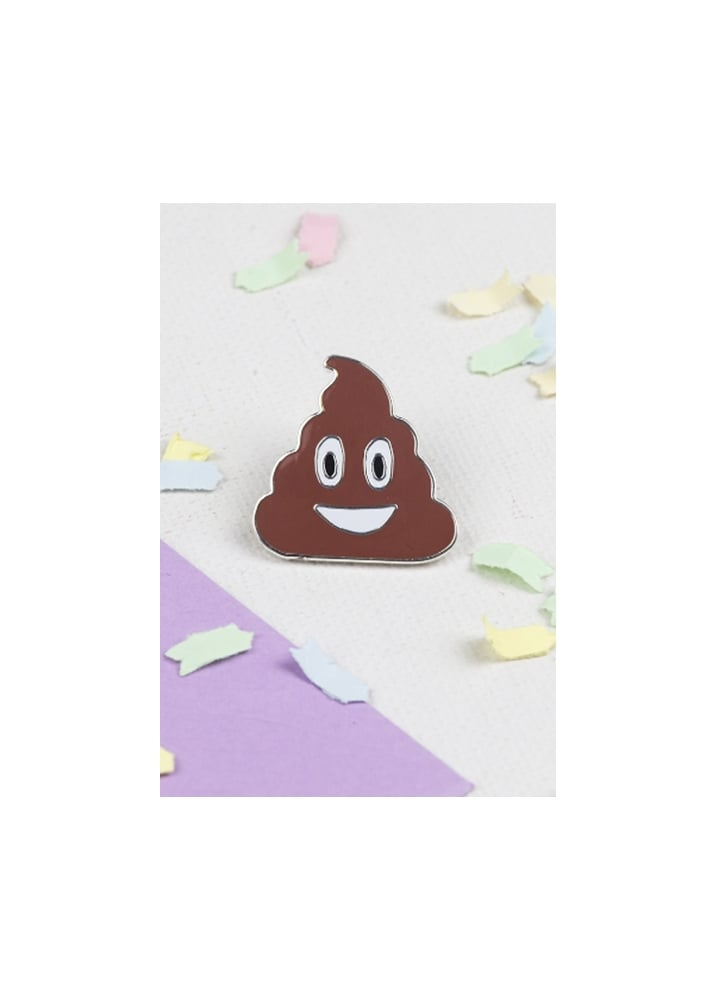 Poop Enamel Pin Badge - Colour: Brown