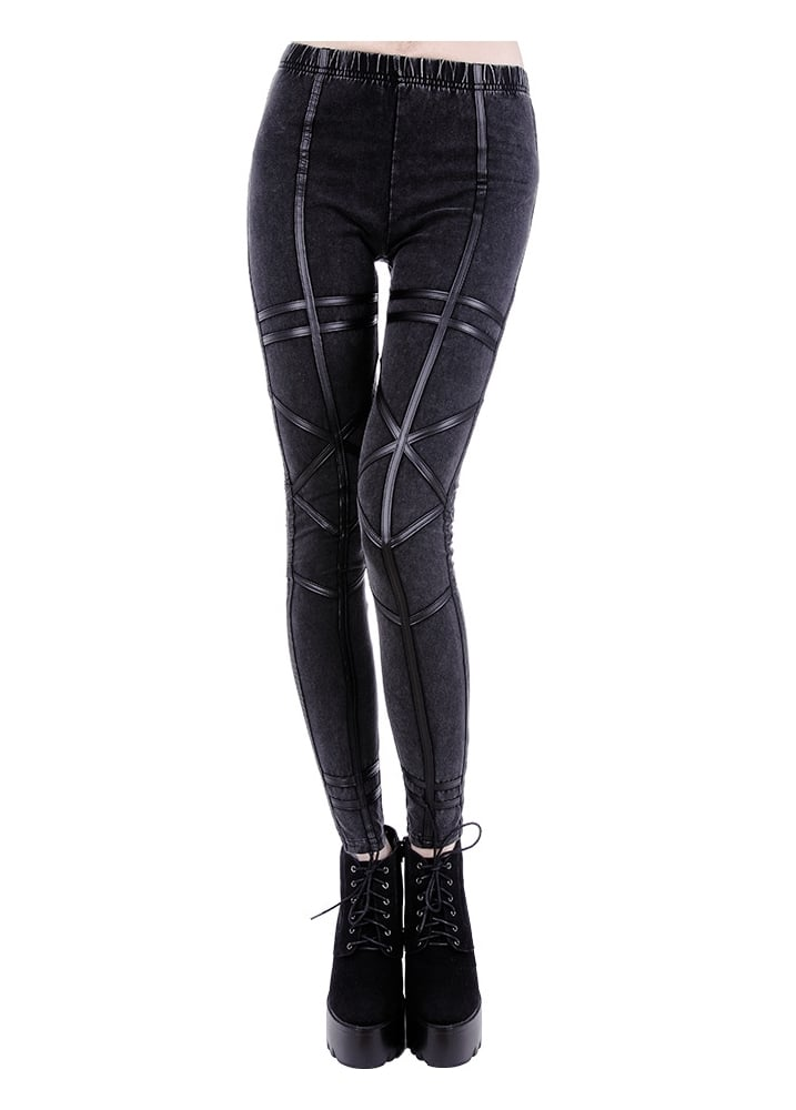 Acid Geometry Leggings - Size: L