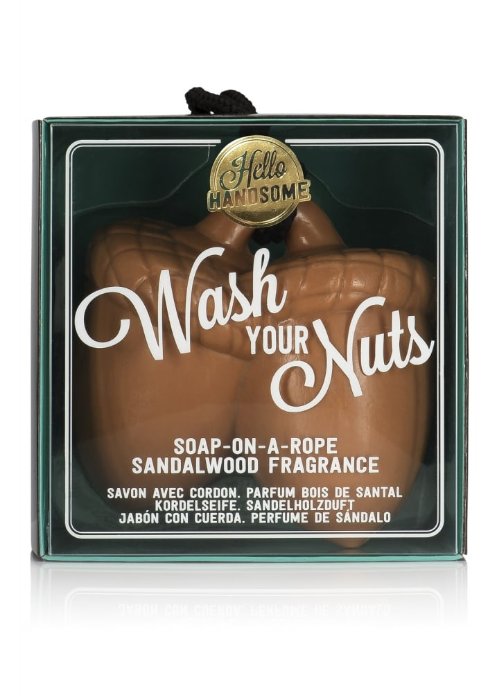Wash Your Nuts Soap On A Rope  Size One Size