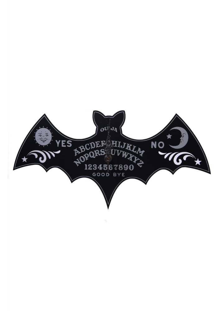 Ouija Bat Wall Clock - Colour: Black