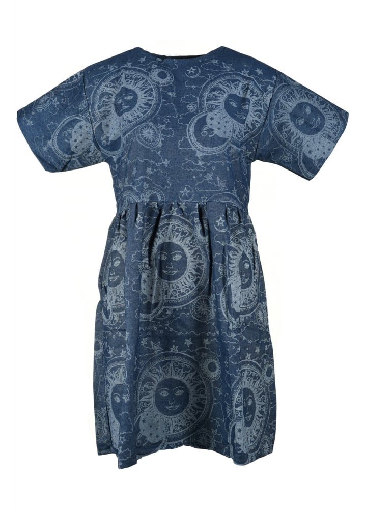 Celestial Dreams Slouch Denim Dress - Size: L