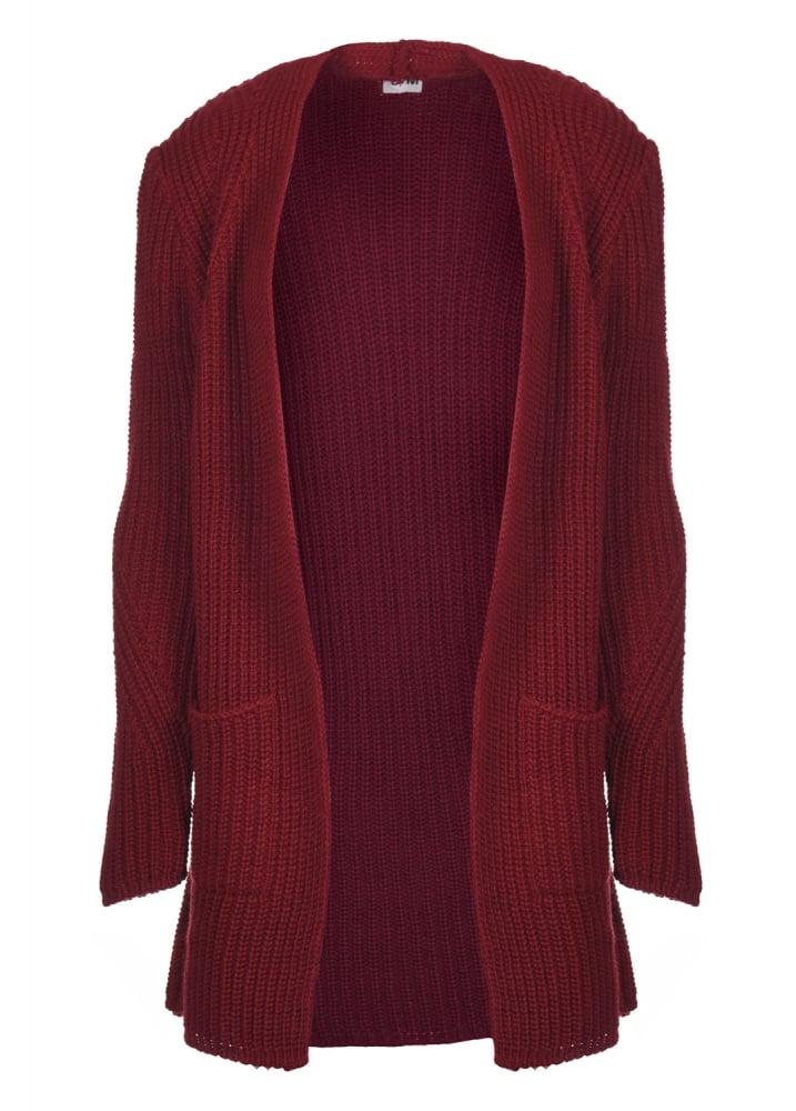 Dark Red Chunky Knit Cardigan  Size LXL