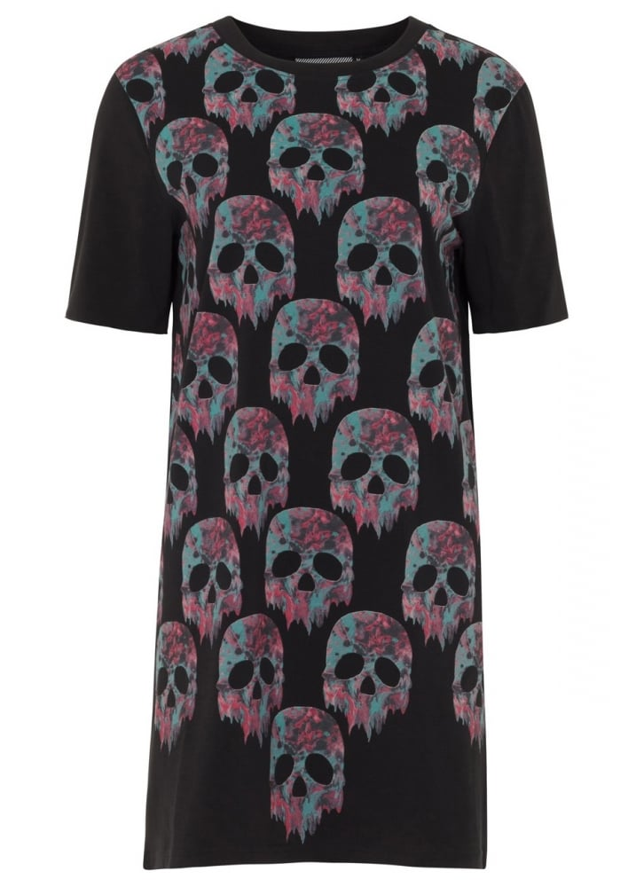 Melting Marble Skulls Dress  Size Size 12