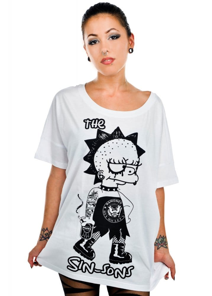 rat baby, t-shirts, punk clothing, simpsons