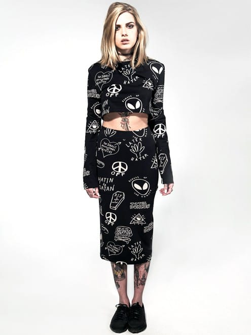 Disturbia Downer Crop Top & Pencil Skirt