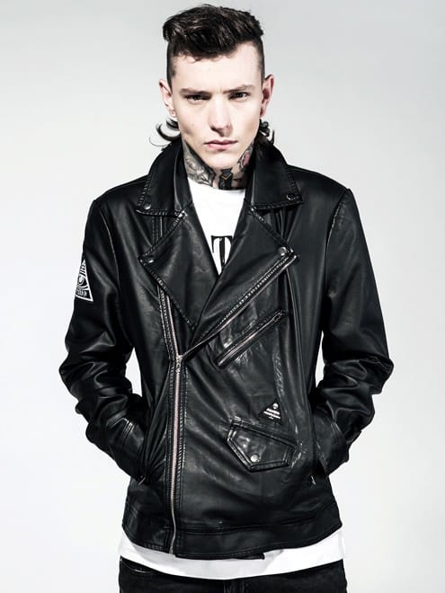 Disturbia Straight 2 Hell Vegan Leather Jacket