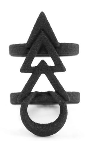 THE ROGUE + THE WOLF RUNE MIDI RING