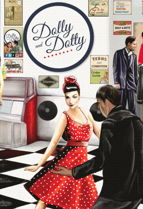 Dolly and Dotty rockabilly dresses.