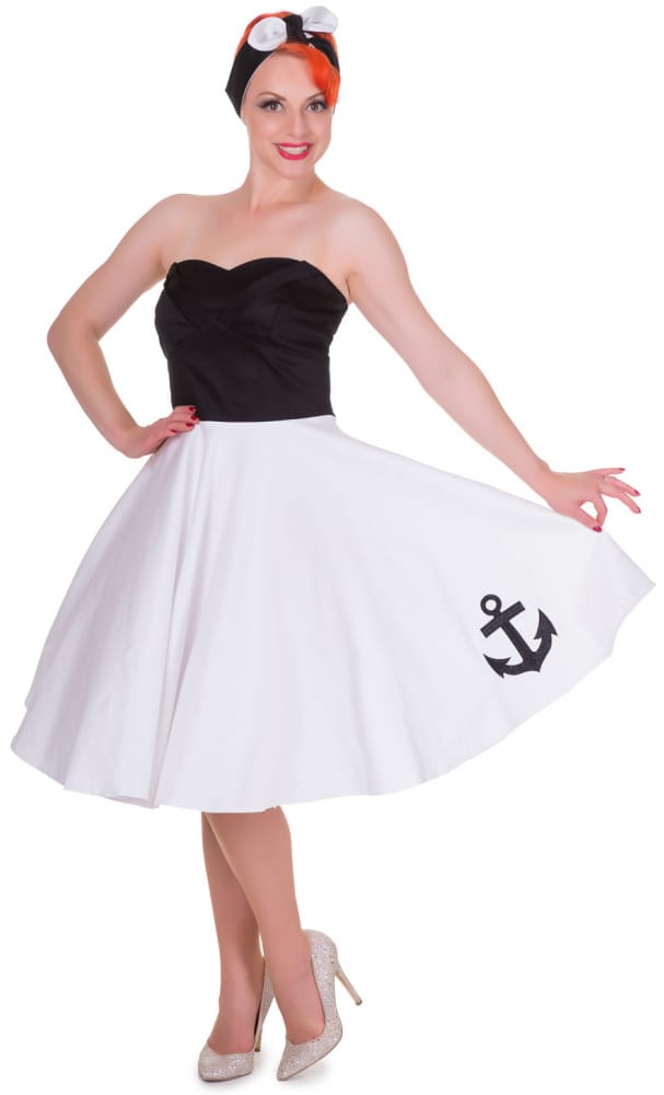 DOLLY AND DOTTY MELISSA BANDEAU ANCHOR DRESS