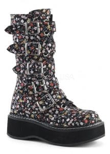 Demonia Floral Boots