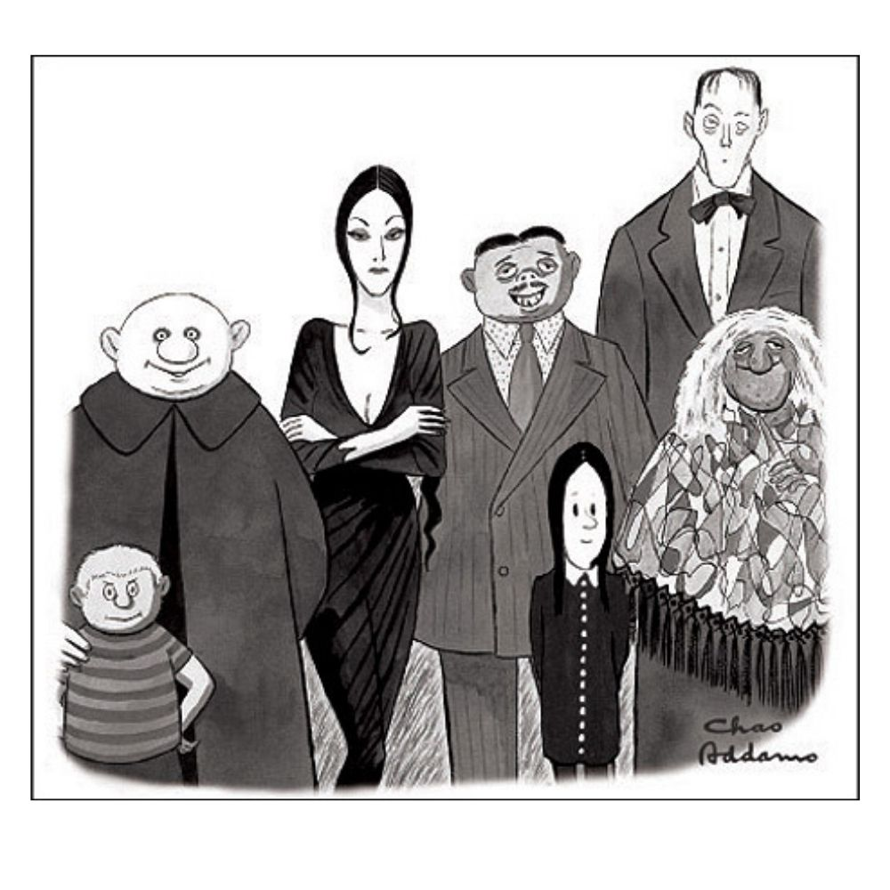 The Addams Family drawn by Charles Addams