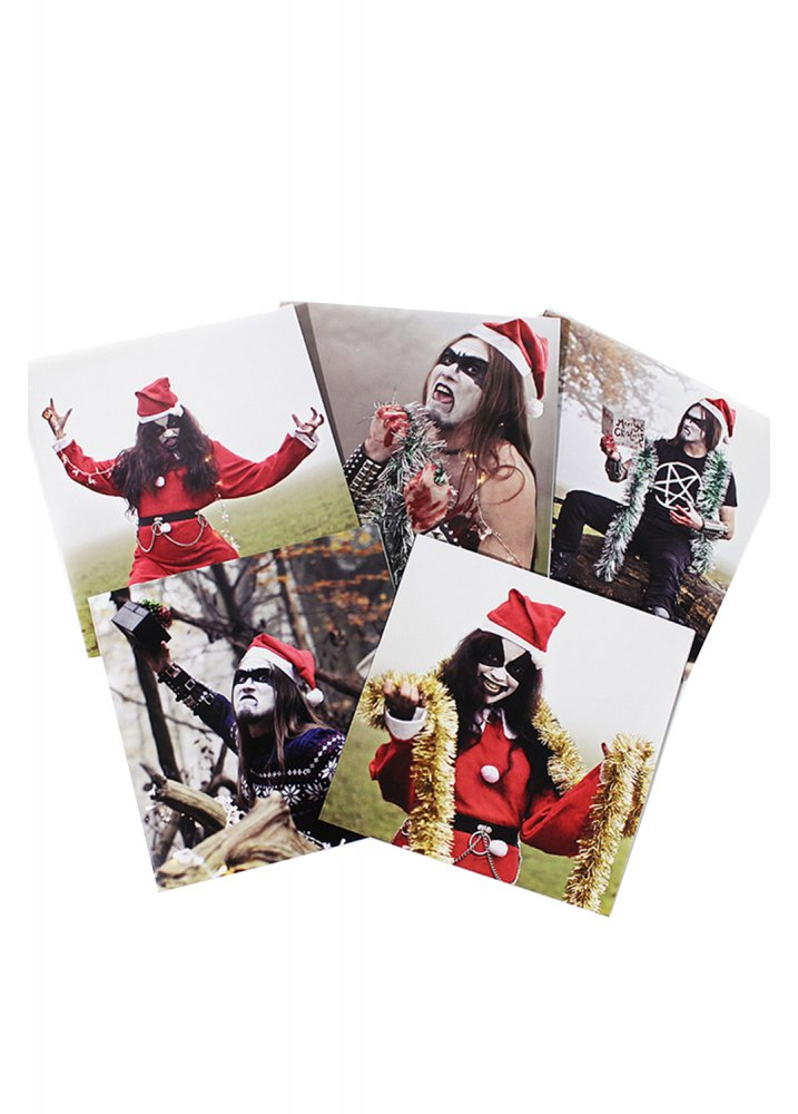 Black metal christmas cards attitude clothing